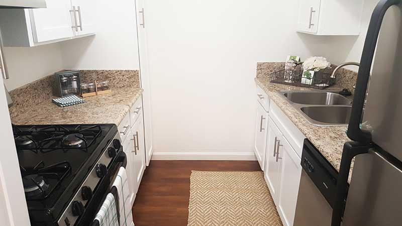 9212 Burke Street Apartments: Renovated Kitchen
